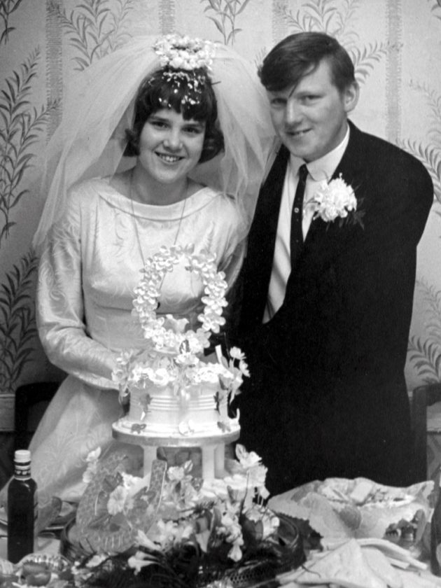 Mum & Dad wedding photo
